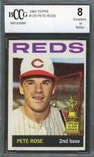 Pete Rose Card 1964 Topps #125 Cincinnati Reds (All-Star Rookie) BGS BCCG 8