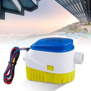 1100GPH Bilgenpumpe Lenzpumpe Bilgepumpe Pumpe Automatisch Wasserpumpe