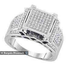 men's Diamond .40-carats Ice Out Bling 925 Ring urban fashion success hip hop