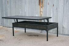 Vintage Industrial Adjustable Height Coffee Table. Mid Century Modern/Urban.