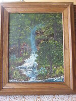 ORIGINAL OIL PAINTING ON CANVAS SIGNED BY SHARON '97,  W/NICE WOODEN FRAME