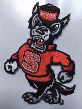 """North Carolina NC State University Wolfpack Iron-On Patch NCSU 3"""" tall heatseal"""