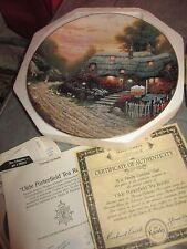 Thomas Kinkade Thomashire Olde Porterfield Tea Room 1st issue Plate with Coa