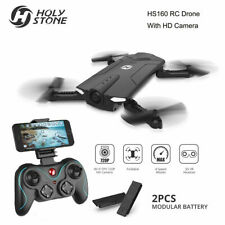 Holy stone RC drone with camera HS160 foldable FPV live video 2 batteries wifi