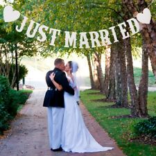 Just Married Wedding Banner Garland Paper Card Bunting Wedding Supplies Crafts
