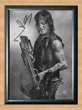 Norman Reedus The Walking Dead S6 Daryl Dixon Signed Autographed A4 Print Poster