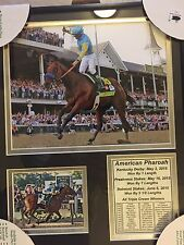 AMERICAN PHAROAH FRAMED Picture TRIPLE CROWN WINNER NWT Last Ones