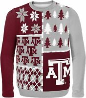 Texas A&M Aggies Football Vintage Sport Holiday Christmas 3D Ugly Sweater S-5XL