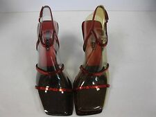 Nine West Women's Shoes, Size 9.5 M Gabelle, high heel red fabric sparkle
