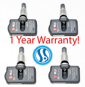 SET Toyota Matrix 2007-2014 4 Tire Pressure Sensors OEM Replacement TPMS 315mhz