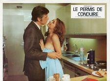 SEXY PASCALE ROBERT LOUIS VELLE LE PERMIS DE CONDUIRE 1974 VINTAGE LOBBY CARD 1