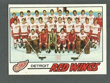 1977-78 Topps Hockey Detroit Red WIngs #77 Unmarked Team Checklist NM/MT