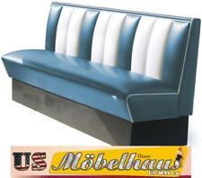 HW-180-Blue American Diner Bench Seating Furniture USA Style Catering