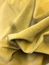 "16 Metre Top Quality Cotton Velvet Curtain  Fabric Dorset Cream Hay 54"" Wide"