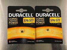 2x Duracell 376 / 377 SR626SW 1.5V Oxide Watch Battery V377 SR66  AG4 SR626
