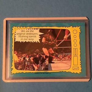 1987 O-Pee-Chee WWF #71  DEMOLITION  Pack Fresh  NM/MT
