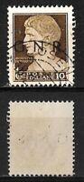 Posta aerea - G.R.N. -1944 - cent 10 - sassone 471  - soprast nera -tappabuco