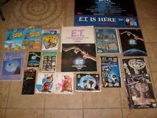 HUGE E.T. The Extra Terrestrial Vintage Lot POSTER CALENDER PRESTO # PAINT MORE!