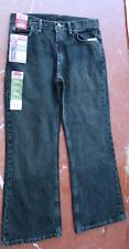 WRANGLER Boy's 5-STAR Boot Cut SIZE 10 Husky Jeans ADJ WAIST Dark Blue NWT