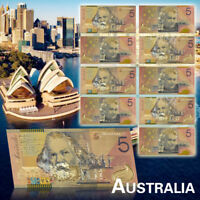 WR 10X New Australian 5 Dollar Fine Quality Colorful Banknotes With Certificates
