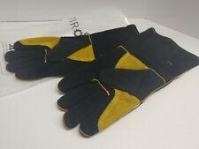 Pair 14 662f Heavy Duty Welding Gloves Heat Resistant Welders Hands Protect