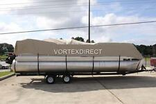 NEW VORTEX COMBO PACK BEIGE 18 FT ULTRA PONTOON/DECK BOAT COVER+SUPPORT SYSTEM