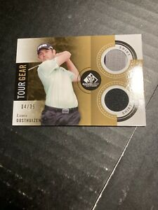 LOUIS OOSTHUIZEN 2013 UD SP GAME USED TOUR GEAR GOLD DUAL SHIRT CARD 4/35