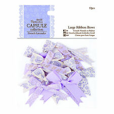 DoCrafts Papermania Capsule Collection   French Lavender  Large Ribbon Bows