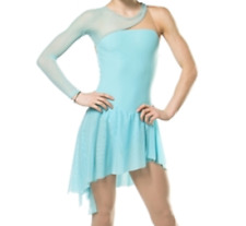 Blue Ice Figure Skating Dresses Custom Girl Competition Skating Dress Girls Y120