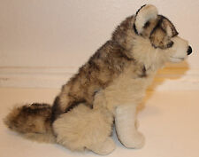 "Sitting Wolf Plush 10"" Husky Stuffed Animal JAAG Seated Used Realistic Coyote"