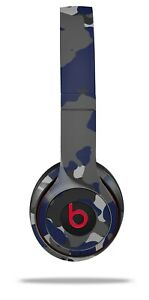 Skin Beats Solo 2 3 Old School Camouflage Blue Navy Headphones NOT INCLUDED
