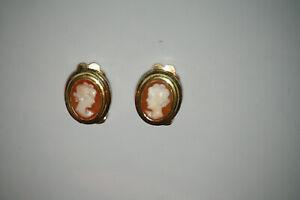 Schöne Ohrringe Gemme Clips aus silber 800