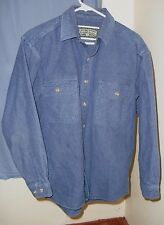 Field and Stream Heavy Flannel Shirt Mens Small to Medium Blue LS Camp Hike Fish