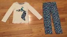 Gymboree Winter Peacock Capsule Line Outfit L Sleeve Shirt, NWOT Adj Waist Jeans