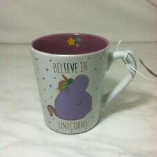 New Believe In Unicorns Mug Ceramic Purple & White Gift Funny Travel