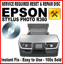 Epson Stylus Photo R360 RESET DISC: Fault Fix, Flashing Light Solution