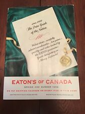 1958 Eaton's Spring And Summer Catalog (Like New!)