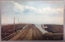 1910 DULUTH MISSABE & Northern RAILWAY Minnesota ORE DOCKS Postcard Antique RR