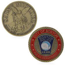 Saint Michael Boston Police Commemorative Challenge Coin Souvenir Collectible
