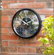 Vintage Wall Clock Large Garden Metal Decorative Indoor Outdoor Round Timer 38cm