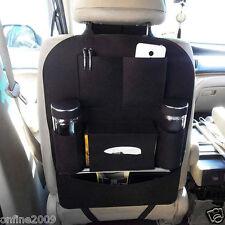 Auto Car Seat Back Multi-Pocket Storage Bag Organizer Holder Hanger Accessory BK