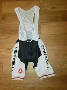 Castelli Cycling Bib Shorts ROSSO CORSA PROGETTO X2 PADDED Mens LARGE