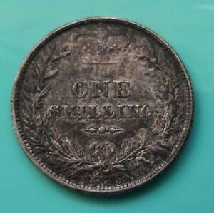1885 Victoria Silver Shilling coin  (815)