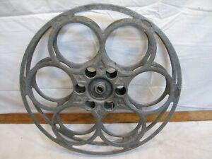 "Vintage Goldberg Bros 35mm Cast Metal Film Movie Theater Reel 20 Min 15"" Decor"