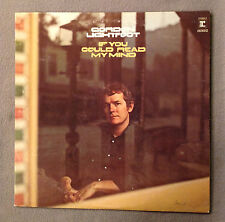 GORDON LIGHTFOOT -IF YOU COULD READ MY MIND -33 &1/3 RPM LP RECORD ALBUM -1970