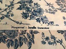 Jonelle Duracolour Fabric  ' Pimpernel' Blue & White Floral Fat Quarter New