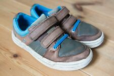 Boys Clarks CHAD SKATE Blue/Brown Leather Shoes. Children's/Infant 11 F