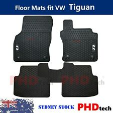 Prime All Weather Rubber Floor Mats fit VW Tiguan R-Line 2017-2020