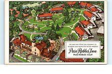 Unused Roadside Postcard CA California Paso Robles Inn Hwy 101 Bird's Eye Aerial