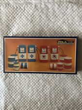 G SCALE POLA #962 G SCALE  BARRELS AND TEXACO ARAL PEROL GASOLINE PUMPS - 962